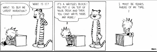 Il blocco dello scrittore!